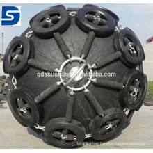 Yokohama Type Marine Inflatable Rubber Fender with Tyre Chain Net For Boat